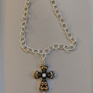 Jewelry - Gold and Silver Cross Necklace